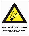 """Grafická značka """"Kouření povoleno"""""""