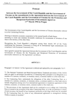Protocol between the Government of the Czech Republic and the Government of Ukraine on the amendments to the Agreement between the Government of the Czech Republic and the Government of Ukraine for the Promotion and Reciprocal Protection of Investments signed on 17th March 1994 in Prague